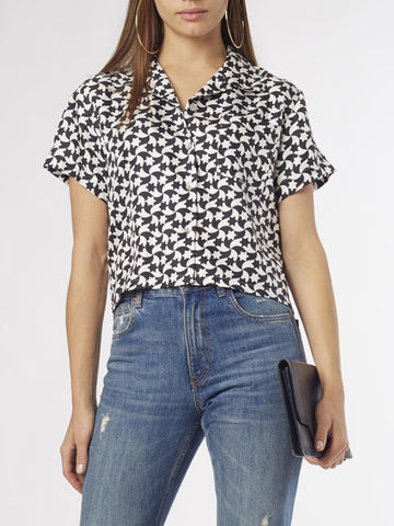 Eye Print Blouse | Silk Crepe de Chine