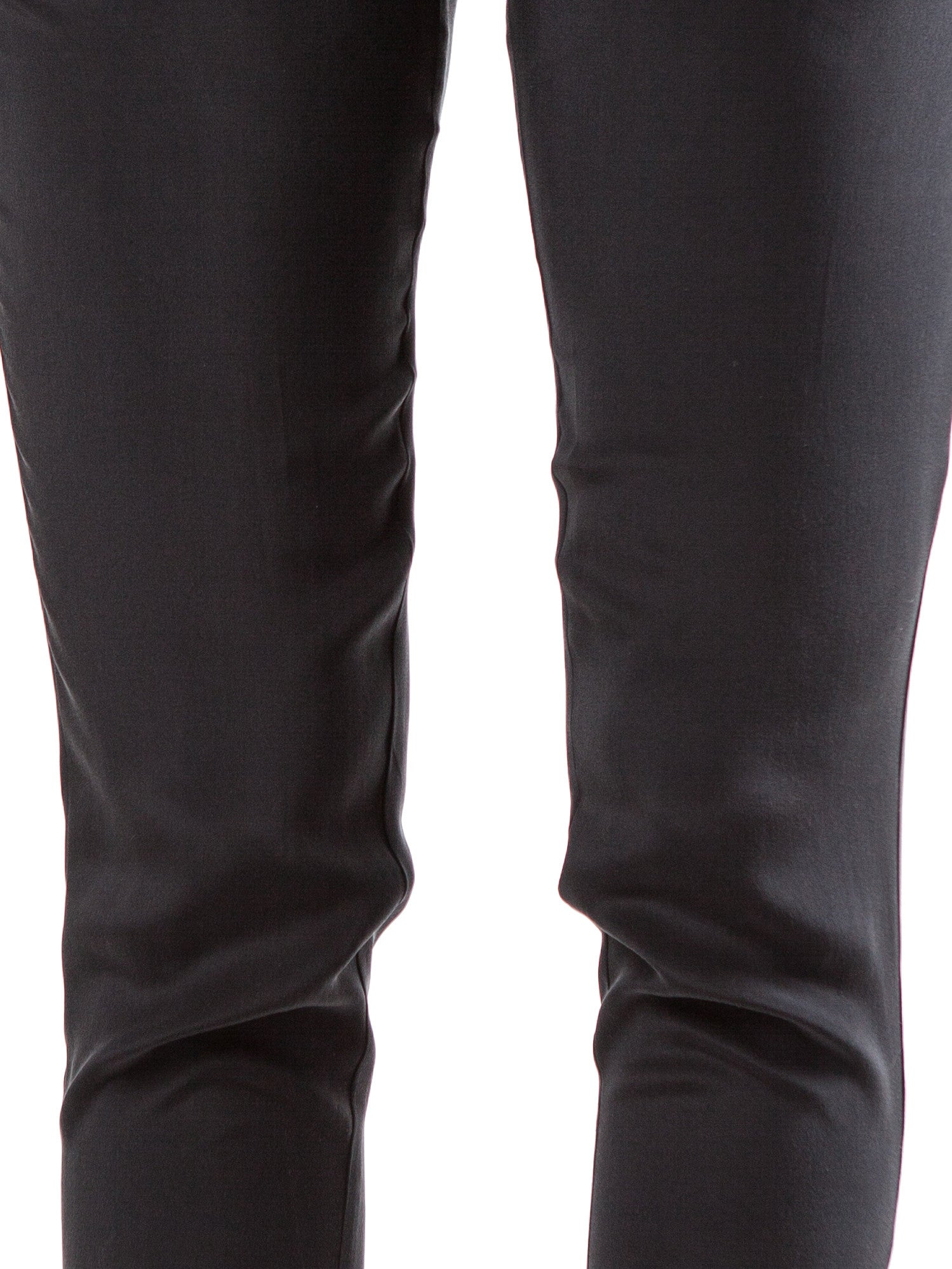 <b>Black elastic waist pants</b><br><i>Silk Crepe de Chine</i>
