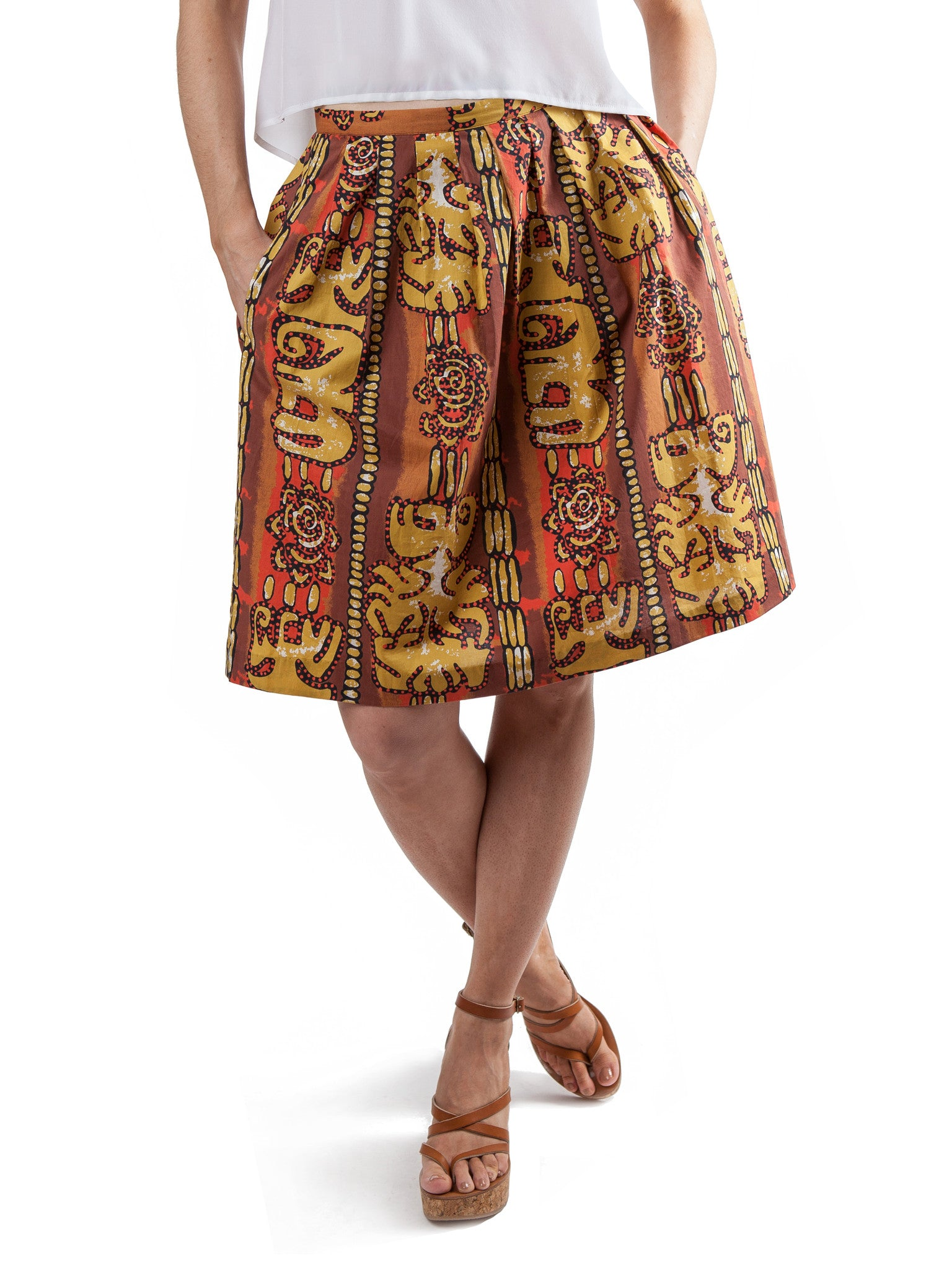 <b>Printed skirt</b><br><i>Cotton</i>