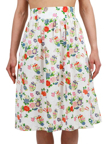 <b>Printed sleeveless short dress</b><br><i>Cotton</i>