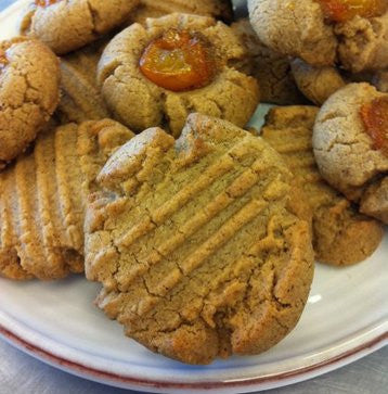 Hazelnut Almond Butter Cookies