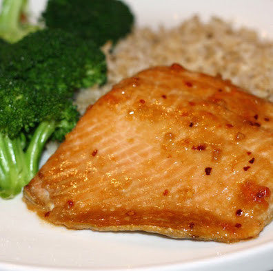 Honey-Soy Salmon with Wasabi