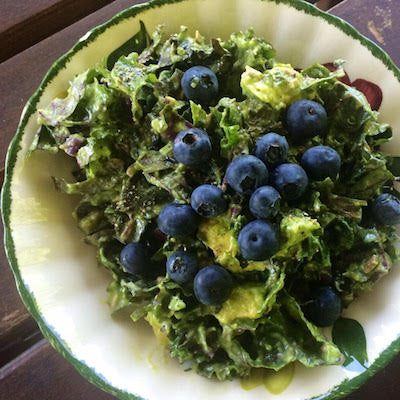 Kale with Blueberries