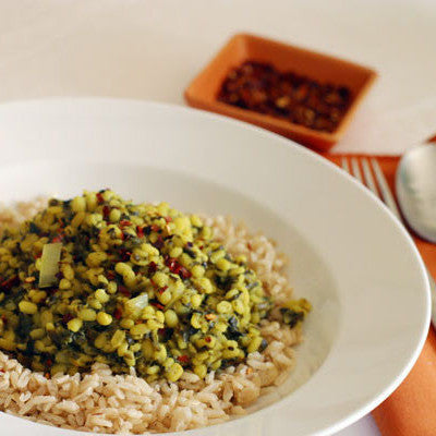 Autumn Kitchari (Mung Beans and Rice)