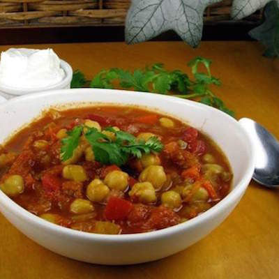 Moroccan Chickpea Chili with Chicken