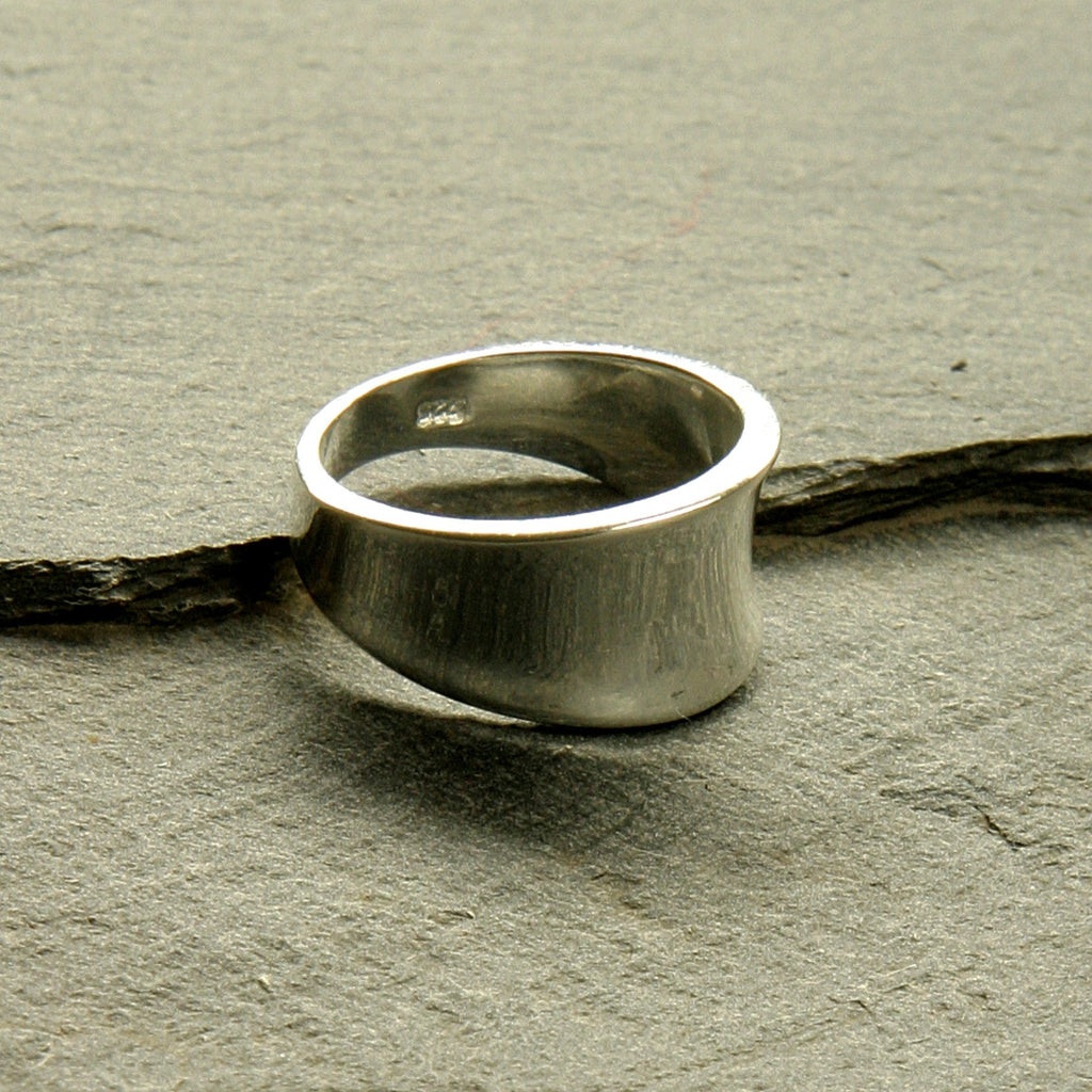 Sterling Silver Scoped Ring
