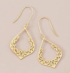 Delicate Brushed 18K Gold Over Sterling Earrings