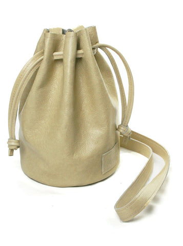 Handmade Leather Crossbody Small Ditty Bag in Cream