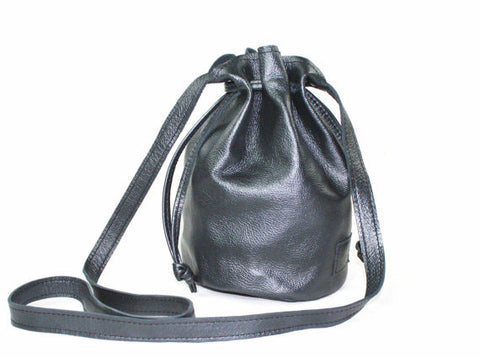Handmade Leather Crossbody Small Ditty Bag in Metallic Gray