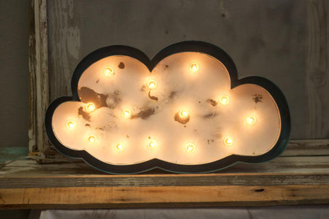 "24"" Cloud Lighted Metal Marquee Sign"