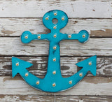 "24"" Distressed Wood Anchor Lighted Marquee Sign"