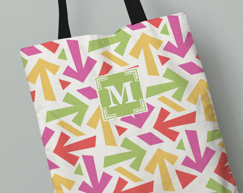 Personalized Kid's Tote Bag Set in Monster Arrows