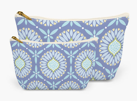 Set of Two Accessory Bag Pouches in Seaside Bloom