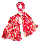 Silk & Wool Breast Cancer Awareness Scarf