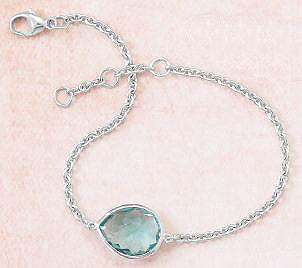 Sterling Silver Faceted Hydro Quartz Bracelet