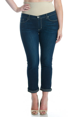 #1505 Boyfriend/Petite Straight Leg Dark Wash - Plus Size