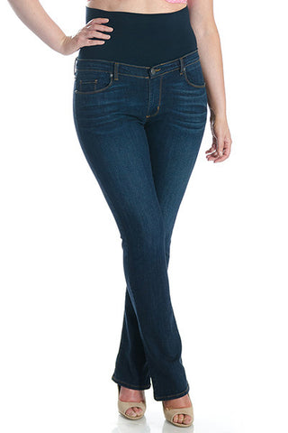 #1506 Bootcut (Dark Panel) - Plus Size