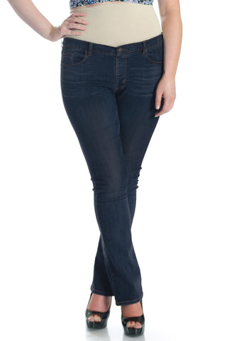 #1508 Straight Leg Med/Dark Wash - Plus Size