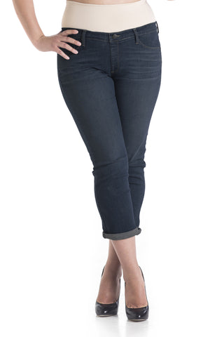 #1510 Boyfriend/Petite Straight Leg Dark Wash - Plus Size