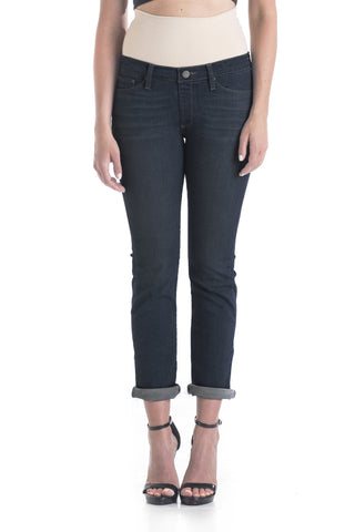 #1510 Boyfriend/Petite Straight Leg (Dark Wash)