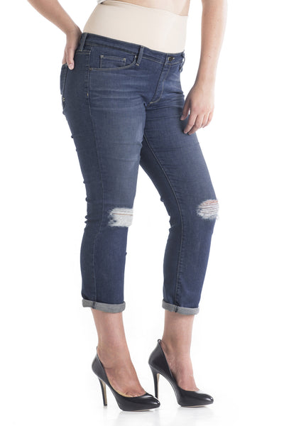 #1510 Boyfriend/Petite Straight Leg Distressed - Plus Size