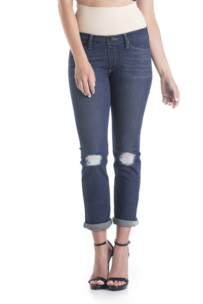 #1510 Boyfriend/Petite Straight Leg Distressed