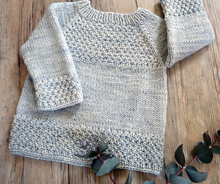 Silver Gum Top Down P137 by OGE Knitwear Designs