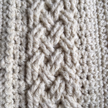 Use front post crochet to create beautiful Aran patterns