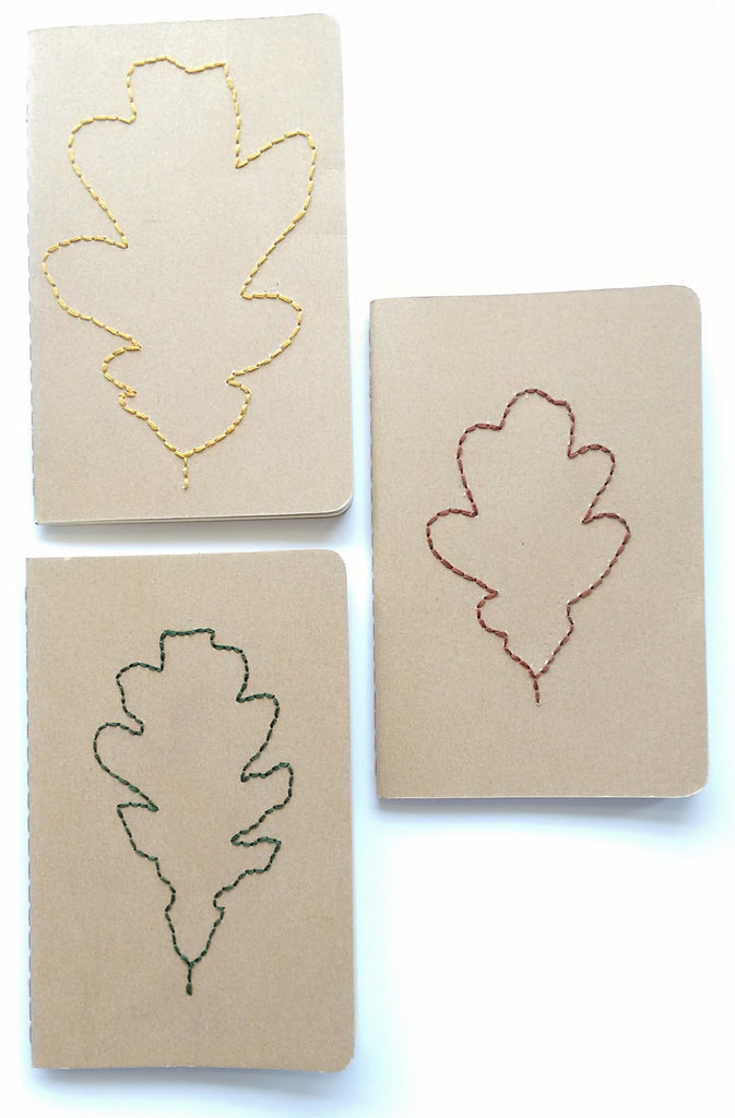 Oak leaf notebook