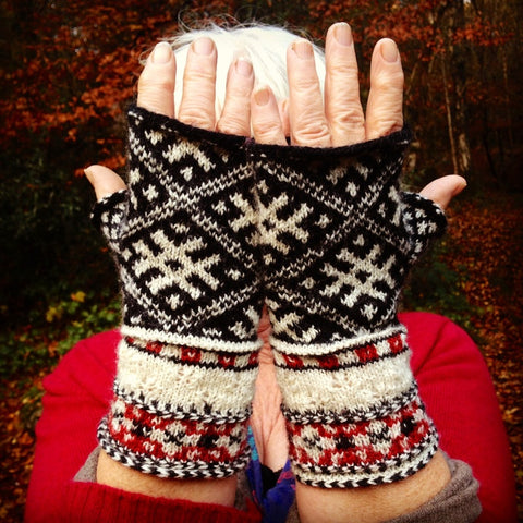 Design and knit your own unique Baltic mitts