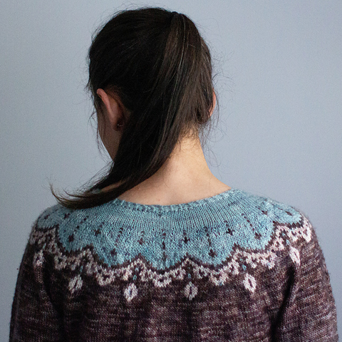 How to design a top-down sweater with a circular yoke