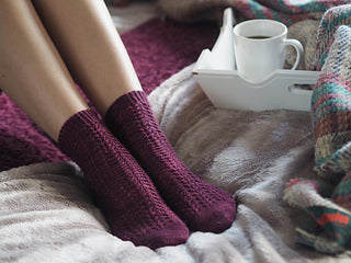 Winter Rose Socks by Helen Stewart