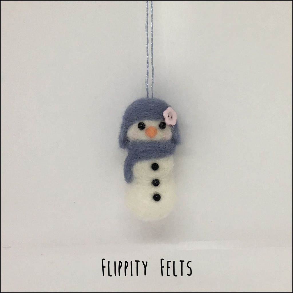 Needlefelt a Snowman ornament