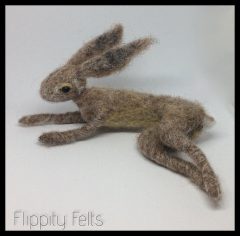 Needle felt a flexible Hare