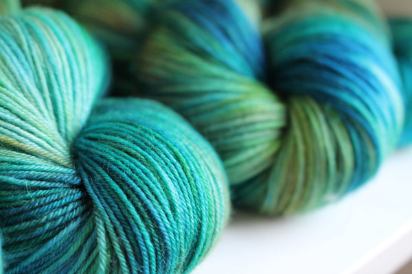 RiverKnits hand-dyed 4 ply