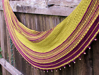 Knit the St Aubin's Bay shawl with Anniken Allis