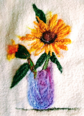 Needle felt art - Sunflowers