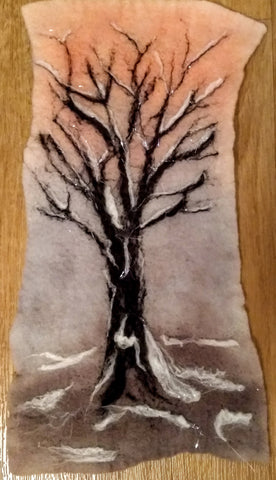 Needlefelt art - Winter trees