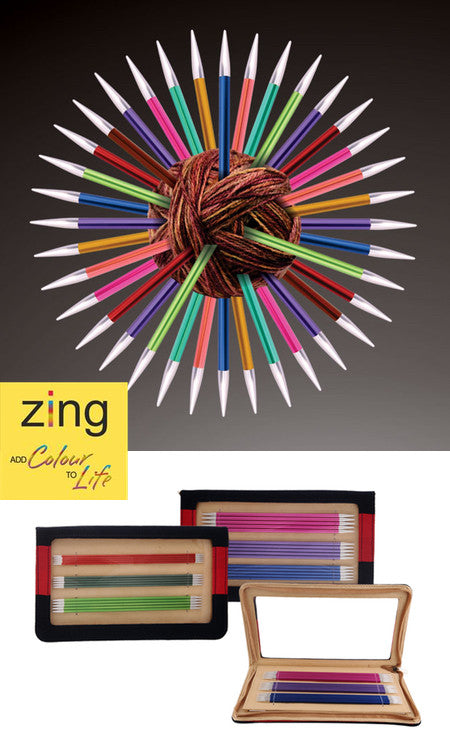 Zing double pointed needle set 15cm