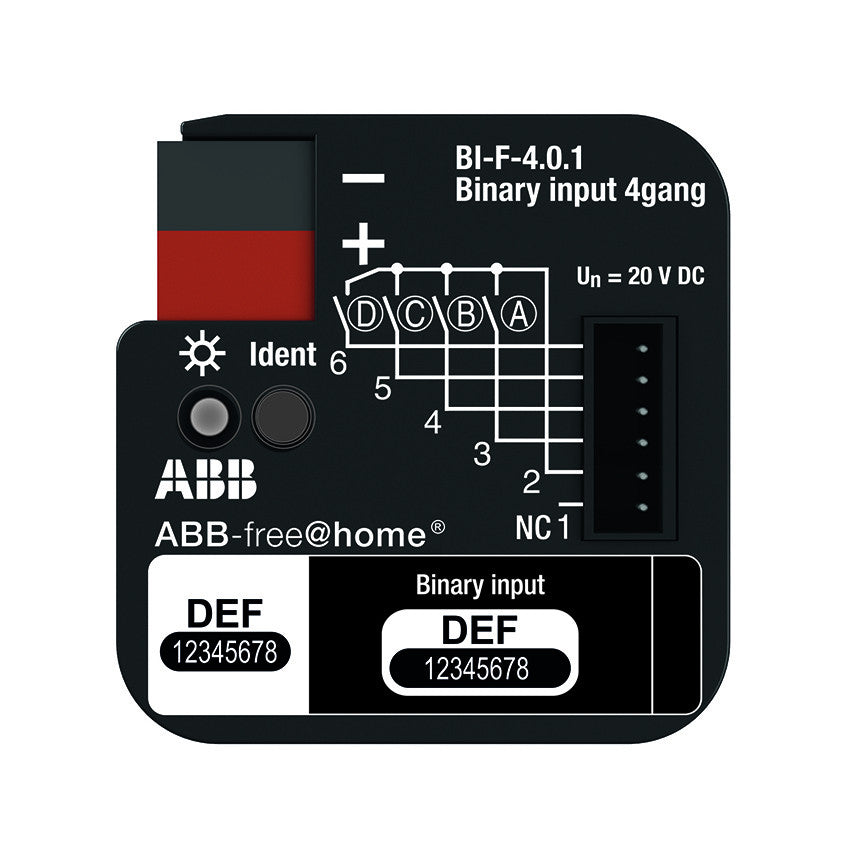 ABB free@home® Binary Input 4 Way - Flush Mount