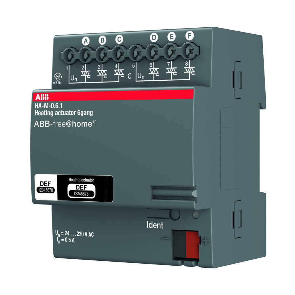 ABB free@home® Heating Actuator 6 Way