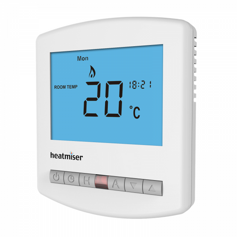 Heatmiser Slimline-HW-N 12v Thermostat with Hot Water Timeclock