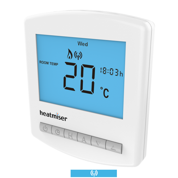Heatmiser Multi Mode Slimline Wireless Thermostat - Slimline-RF
