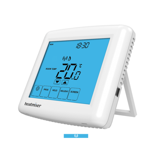 Heatmiser Multi Mode Touch Screen Wireless Thermostat - Heatmiser Touch-RF