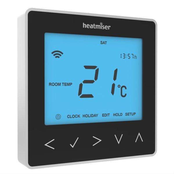 Heatmiser neoStat - 12v Programmable Room Thermostat - Sapphire Black