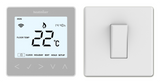 Heatmiser NeoStat-E - Electric Floor Heating Thermostat Platinum Silver