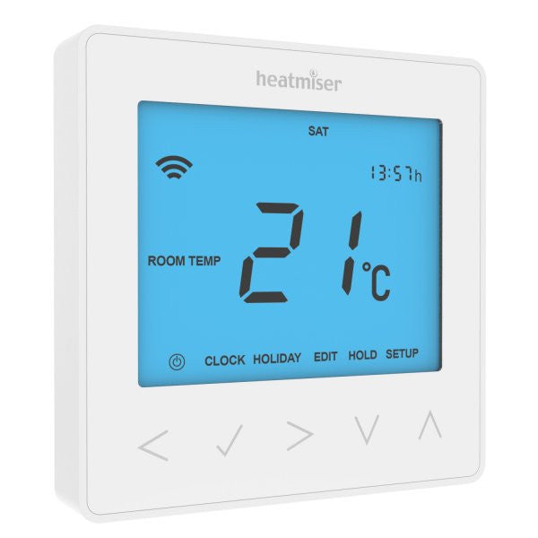 Heatmiser neoStat - 12v Programmable Room Thermostat - Glacier White