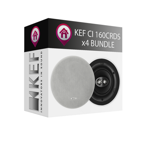 KEF CI160CRDS Single Stereo In-Ceiling Speaker - x4 Bundle