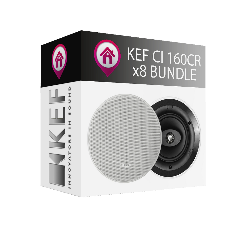 KEF CI160CR Ceiling Speaker - x8 Bundle