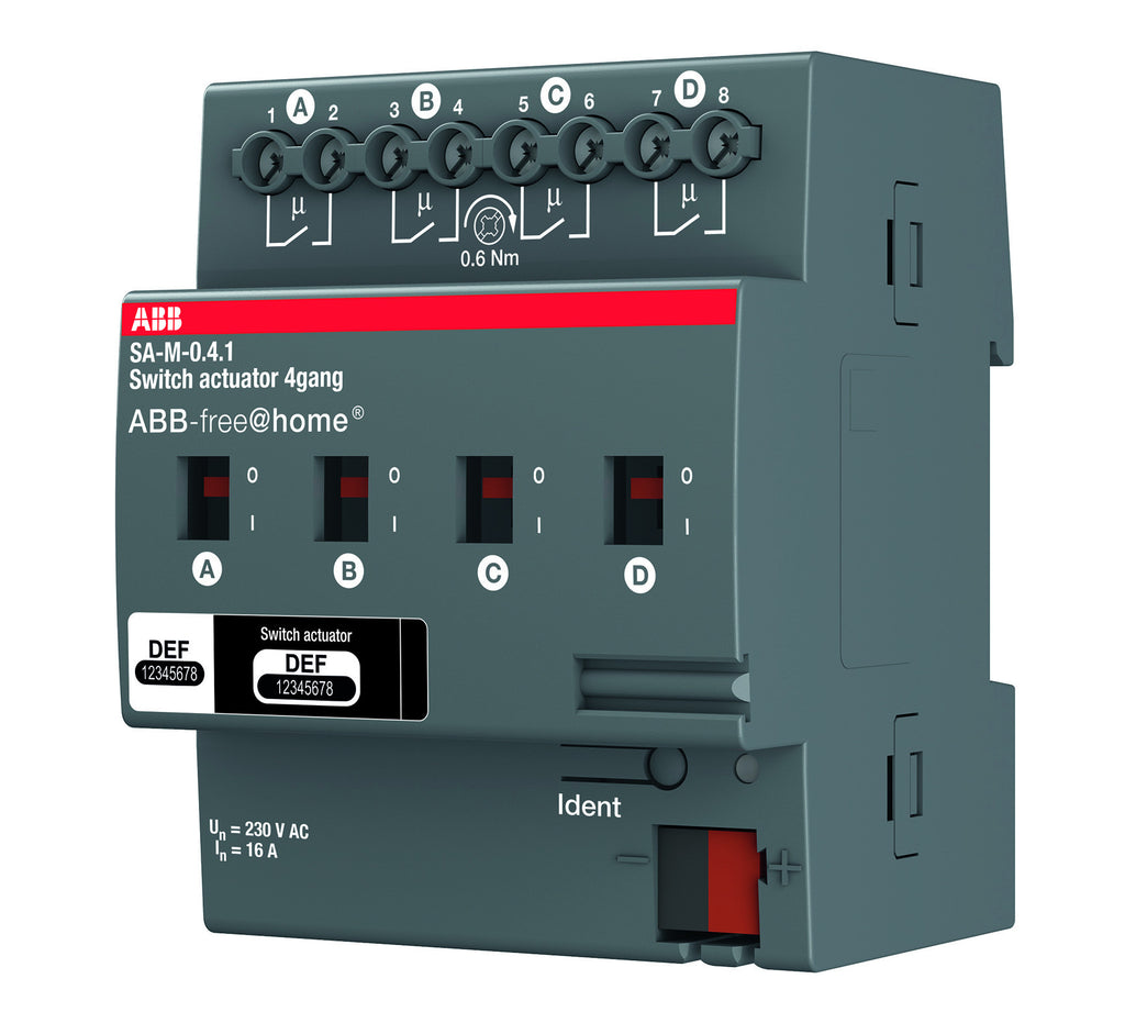 ABB free@home® Switch Actuator 4 Way